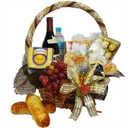 Cesta Pão e Vinho - FLORABARIGUI