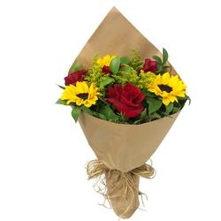 Encanto de Rosas e Girassóis - FLORABARIGUI