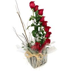 Ikebana de Rosas Vermelhas - FLORABARIGUI