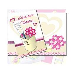 Cartão Felizes para sempre - FLORABARIGUI