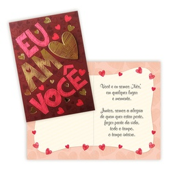 Cartão Eu Amo Você - FLORABARIGUI