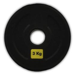 ANILHA OLÍMPICA INICIATIVA FITNESS 3KG - UNIDADE - Iniciativa Fitness