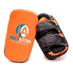 APARADOR DE CHUTE COM ALMOFADA DUAS ALÇAS LARANJA | INICIATIVA FITNESS - Iniciativa Fitness