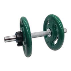 KIT 2 BARRAS MACIÇAS 40CM C/ LOCK JAW + 4 ANILHAS REVESTIDAS 5KG | INICIATIVA FITNESS - Iniciativa Fitness