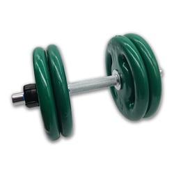 KIT 2 BARRAS MACIÇAS 40CM C/ LOCK JAW + 8 ANILHAS REVESTIDAS 5KG | INICIATIVA FITNESS - Iniciativa Fitness