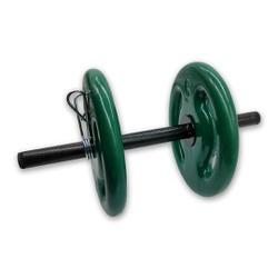 KIT 2 BARRAS OCAS 40CM C/ PRESILHA ESPIRAL + 4 ANILHAS REVESTIDAS 5KG | INICIATIVA FITNESS - Iniciativa Fitness