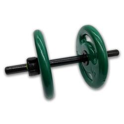 KIT 2 BARRAS OCAS 40CM C/ LOCK JAW + 4 ANILHAS REVESTIDAS 5KG | INICIATIVA FITNESS - Iniciativa Fitness
