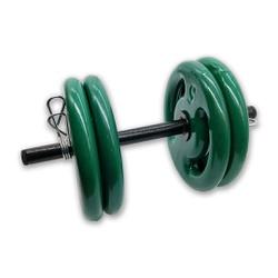 KIT 2 BARRAS OCAS 40CM C/ PRESILHA ESPIRAL + 8 ANILHAS REVESTIDAS 5KG | INICIATIVA FITNESS - Iniciativa Fitness