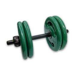 KIT 2 BARRAS OCAS 40CM C/ LOCK JAW + 8 ANILHAS REVESTIDAS 5KG | INICIATIVA FITNESS - Iniciativa Fitness