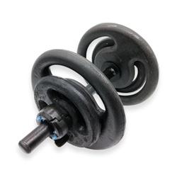 KIT 2 BARRAS OCAS 40CM C/ LOCK JAW + 2 PARES DE ANILHA PINTADA 2KG + 2 PARES DE ANILHA PINTADA 5KG |... - Iniciativa Fitness