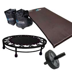 KIT COLCHONETE + CANELEIRA DE 3KG + JUMP + CORDA DE PULAR + RODA ABDOMINAL | INICIATIVA FITNESS - Iniciativa Fitness