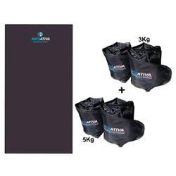 KIT 1 COLCHONETE PROFISSIONAL + 1 PAR DE CANELEIRA DE 3KG + 1 PAR DE CANELEIRA DE 5KG - Iniciativa Fitness