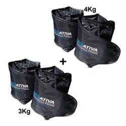 KIT 1 PAR DE CANELEIRA DE 3KG + 1 PAR DE CANELEIRA DE 4KG - Iniciativa Fitness