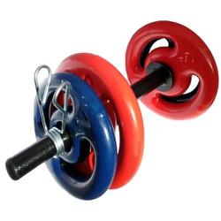 KIT 2 BARRAS OCAS 40CM C/ PRESILHAS + 2 PARES DE ANILHA REVESTIDA 2KG + 2 PARES DE ANILHA REVESTIDA ... - Iniciativa Fitness