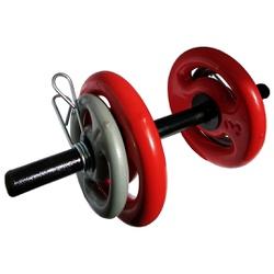 KIT 2 BARRAS OCAS 40CM C/ PRESILHAS + 2 PARES DE ANILHA REVESTIDA 1KG + 2 PARES DE ANILHA REVESTIDA ... - Iniciativa Fitness