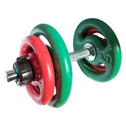 KIT 2 BARRAS MACIÇAS 40CM C/ LOCK JAW + 2 PARES DE ANILHA REVESTIDA 3KG + 2 PARES DE ANILHA REVESTID... - Iniciativa Fitness