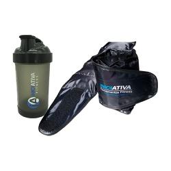 KIT 1 PAR CANELEIRA DE PESO 3KG + 1 COQUETELEIRA PRETA TRANSLÚCIDA 500 ML | INICIATIVA FITNESS - Iniciativa Fitness