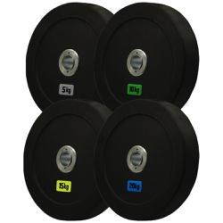 KIT ANILHAS OLÍMPICAS 5KG + 10KG + 15KG + 20KG - PAR | INICIATIVA FITNESS - Iniciativa Fitness