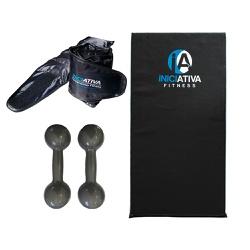 KIT DE GINÁSTICA EM CASA - COLCHONETE + PAR DE CANELEIRA 1KG + PAR DE HALTER 1KG | INICIATIVA FITNES... - Iniciativa Fitness