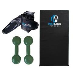 KIT DE GINÁSTICA EM CASA - COLCHONETE + PAR DE CANELEIRA 5KG + PAR DE HALTER 5KG | INICATIVA FITNESS - Iniciativa Fitness