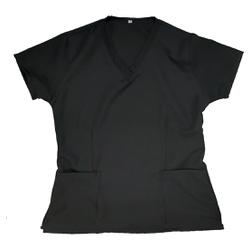 Camisa Scrub Basic Pijama Cirúrgico Preta - SC5678 - BRANCURA