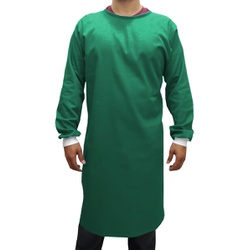 Capote Cirúrgico Verde Escuro, Brim 100% Algodão -... - BRANCURA