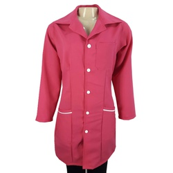 Jaleco Charme Rosa Pink com detalhes brancos - JL5... - BRANCURA