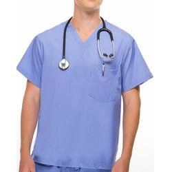 Camisa Scrub - Pijama Cirúrgico Azul Celeste em Al... - BRANCURA