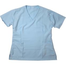 Camisa Scrub Pijama Cirúrgico Azul Bebe Gabardine ... - BRANCURA