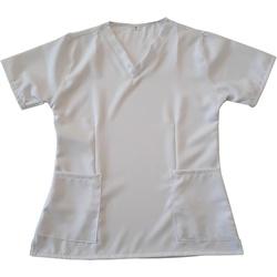 Camisa Scrub Branco Gabardine - Privativo Pijama C... - BRANCURA