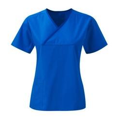 Pijama Cirurgico Azul Royal - Feminino em Gabardin... - BRANCURA