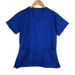 Camisa Scrub Basic Pijama Cirurgico Azul Royal - S... - BRANCURA