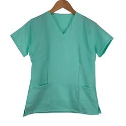 Camisa Scrub Verde Agua em Gabardine - Feminino - ... - BRANCURA
