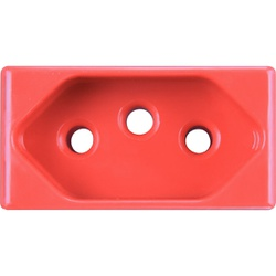 Módulo Tomada 2P+T 20A Vermelho LIZ - Tramontina - Broketto Materiais Elétricos