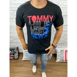Camiseta Tommy DFC Preto - CITH139 - Queiroz Distribuidora Multimarcas