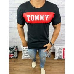 Camiseta Tommy DFC Preto⭐ - CITH160 - Queiroz Distribuidora Multimarcas