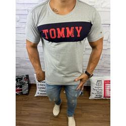 Camiseta Tommy DFC Cinza⭐ - CITH161 - BARAOMULTIMARCAS