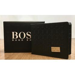 Carteira Hugo Boss Preto - CHB0007 - Queiroz Distribuidora Multimarcas
