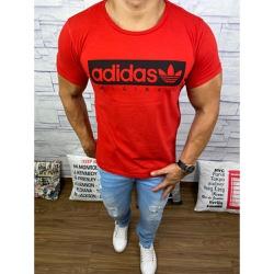 Camiseta Adid Vermelho⭐ - CADD52 - Queiroz Distribuidora Multimarcas