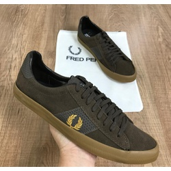 Sapatênis Fred Perry Promo - Veludo Marrom Escuro ... - RP IMPORTS
