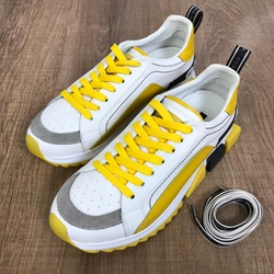 Tenis Dolce Gabbana Branco Amarelo G6✅ - TNDG19 - DROPA AQUI