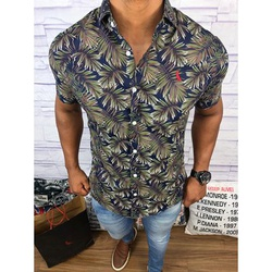 Camisa Social Manga Curta Rv⭐ - RVCB56 - Out in Store