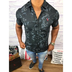 Camisa Social Manga Curta Rv⭐ - RVCG53 - Out in Store