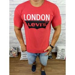 Camiseta Levis Vermelho - CLES28 - Queiroz Distribuidora Multimarcas