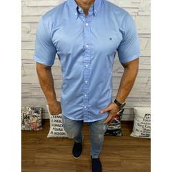 Camisa Manga Curta Tommy Azul Medio ⭐ - cmsth15 - RP IMPORTS