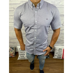Camisa Manga Curta Tommy Gola Verde ⭐ - cmsth23 - RP IMPORTS