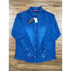 Camisa Social Jeans Manga Longa Rv ⭐ - Shopgrife