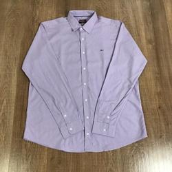 Camisa Manga longa Aramis Plus Size- Lilás Riscado... - DROPA AQUI