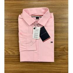 Camisa Manga Longa Tommy - Rosa Escuro - Shopgrife