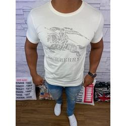 Camiseta Burberry Creme⭐ - bbr03 - Queiroz Distribuidora Multimarcas